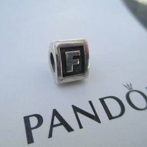 AUTHENTIC PANDORA LETTER F BEAD